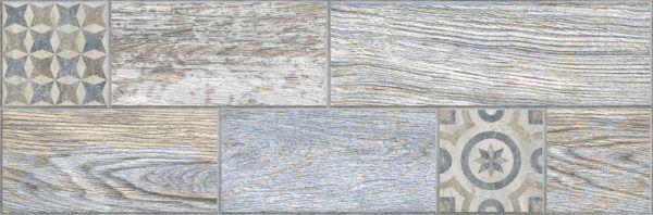 3606-0028 ИНДИГО керамогранит гл. декор 19,9х60,3 голубой