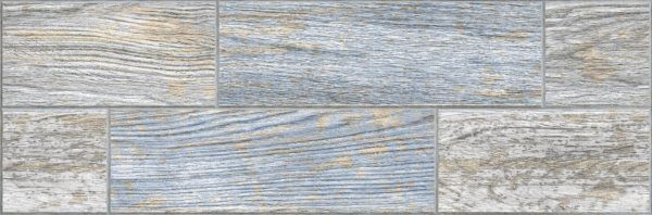 6064-0029 Индиго керамогранит гл. 19,9х60,3 голубой