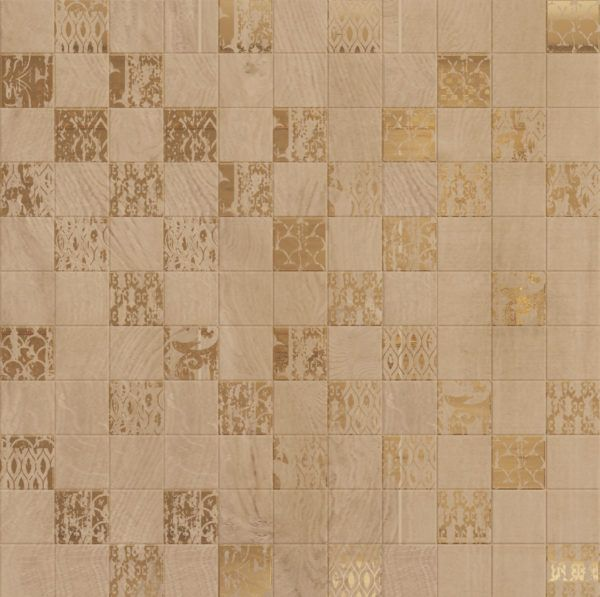 Mosaic Gold decor 305×305
