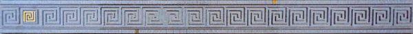 Пальмира Бордюр стеклянный серый 5х60
