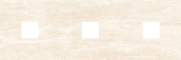 Петра Декор (с 3-мя вырезами 5,6х5,6) бежевый 20х60