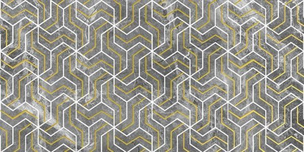 Crystal Fractal Декор серый