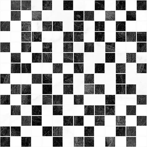 Crystal Мозаика чёрный+белый