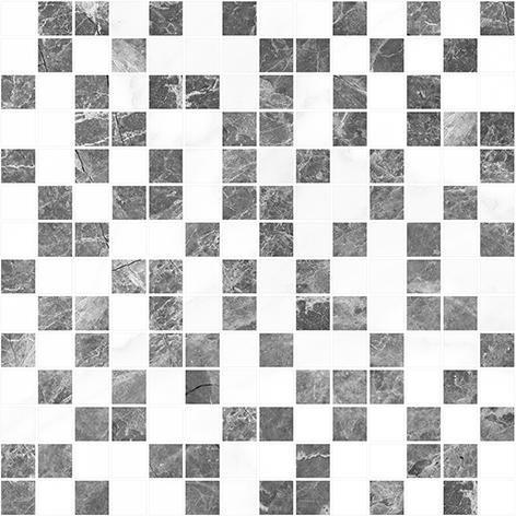 Crystal Мозаика серый+белый